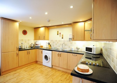 A spacious kitchen