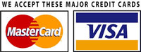 Mastercard and Visa Credit cards accepted at Lodge Farm Cottages