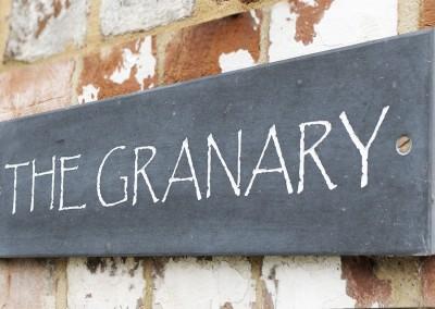 The Granary sign